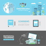 Flat design concept for education Stock Images