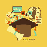 Flat design concept of education Stock Photos