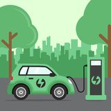 Flat design concept for electric cars vector illustration