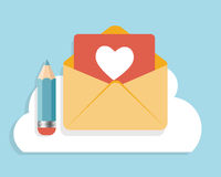 Flat Design Concept Email  Icon Vector Stock Photo