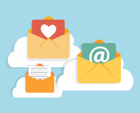 Flat Design Concept Email  Icon Vector Stock Image