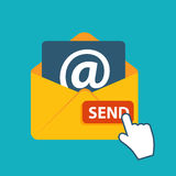 Flat Design Concept Email Send Icon Vector Royalty Free Stock Photography