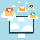 Flat Design Concept Email Write Icon Vector Royalty Free Stock Photography