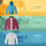 Flat design concept of every day clothes. Royalty Free Stock Image