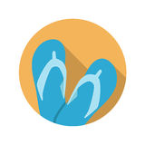 Flat Design Concept Flip Flop Vector Illustration Royalty Free Stock Images