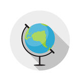 Flat Design Concept Globe Icon Vector Illustration Stock Images