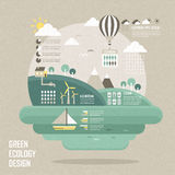 Flat design concept for green ecology Stock Photo