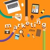Flat design concept hand create marketing. Vector illustrations. vector illustration