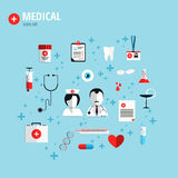 Flat design concept for health care Stock Image