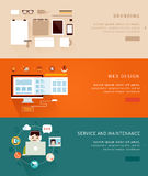 Flat Design Concept Icons and banners Stock Photos