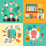Flat design concept icons for business. Icons Stock Images
