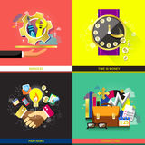 Flat design concept icons for business Royalty Free Stock Photography