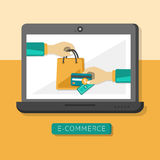 Flat design concept with icons of e-commerce ideas symbol and sh Stock Photo