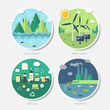 Flat design concept icons of ecology Stock Photo