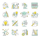 Flat design concept icons on marketing theme Stock Photography