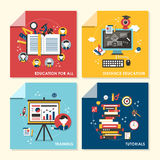 Flat design concept illustration for education and training Stock Photo