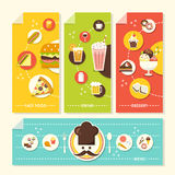 Flat design concept illustration for food and drink Stock Photos