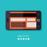 Flat design concept of mobile payment process Stock Images