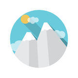 Flat Design Concept Mountains Vector Illustration Stock Images