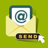 Flat design concept of newsletter Stock Images
