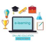 Flat design concept for online education Stock Photos