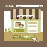 Flat design concept of online shop Royalty Free Stock Images