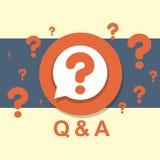Flat design concept of Q&A Stock Photos