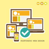 Flat design concept of responsive design Royalty Free Stock Photos