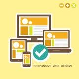 Flat design concept of responsive design Royalty Free Stock Photos