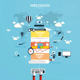 Flat design concept of responsive web design Royalty Free Stock Photography