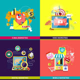 Flat design concept for web and mobile phone services Stock Images
