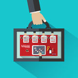 Flat design concepts bag for business meeting Royalty Free Stock Image