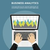 Flat design concepts for business analytics. Vector illustration Stock Photography