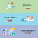 Flat design concepts for business. Flat design concepts for business, finance, strategic management, consalting, cloud services, business meeting. Concepts for Stock Photo