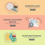 Flat design concepts for business. Flat design concepts for business, finance, strategic management, investment banking, business lunch, great idea. Concepts Stock Photos