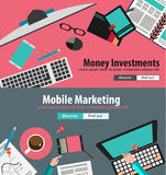 Flat Design Concepts for business planning and people recruitment Stock Image