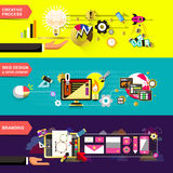 Flat design concepts for creative process Royalty Free Stock Photo