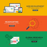Flat design concepts for headhunting. Flat design concepts for business, finance, web development, headhunting, global research. Concepts for web banners and Royalty Free Stock Photo