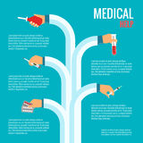Flat design concepts for medical care Royalty Free Stock Images
