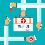 Flat design concepts for medical care Royalty Free Stock Photography