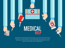 Flat design concepts for medical care Stock Image