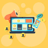 Flat design concepts for Online Advertising Royalty Free Stock Photos