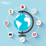 Flat design concepts of online education Stock Photography