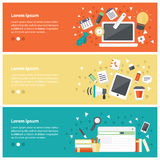 Flat design concepts for online education,online training course Royalty Free Stock Photos
