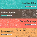 Flat design concepts for startups, consulting Stock Image