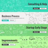 Flat design concepts for startups, consulting,  business Stock Photo