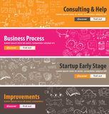Flat design concepts for startups, consulting,  business Stock Image