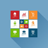 Flat design concepts for user interface infographics Royalty Free Stock Photography