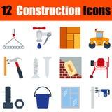 Flat design construction icon set Stock Photos