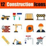 Flat design construction icon set Stock Photo